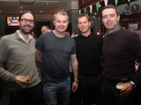 Tony Behan, Richard Barrett, Sean Moynihan and Donal Rooney at the Na Gaeil Race Night on Saturday night. Photo by Dermot Crean