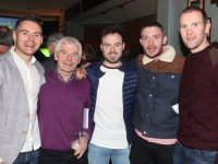 Sean Collins, Micheal Herlihy, Sean Herlihy, Diarmuid Herlihy and Kieran Herlihy at the Na Gaeil Race Night on Saturday night. Photo by Dermot Crean