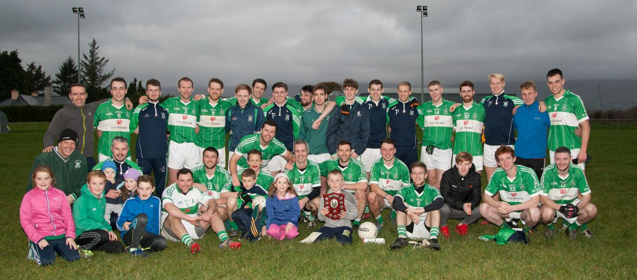 Na Gaeil Senior Team that defeated Fossa on Sunday to win the Division Four County League outright and go up to Division Three as Champions