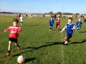 Park FC's Tadhg Falvey in action for the U8's against LB Rovers on Saturday October 29th