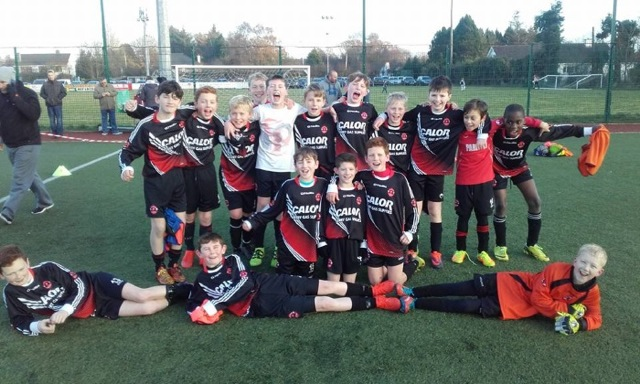Park Fc U12 Team after they secured their place in the last 32 of the SFAI Cup with a win away against Aisling Annacotty