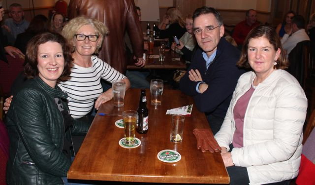 Mary McElligott, Siobhan Cadogan, Noel Mooney and Anne Mooney at the Tralee Parnells GAA Club Table Quiz in Charlie's Bar at Kerins O'Rahillys on Friday night. Photo by Dermot Crean