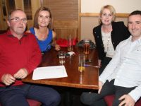 John and Samantha Palmer with Joanne and Cathal Foley at the Tralee Parnells GAA Club Table Quiz in Charlie's Bar at Kerins O'Rahillys on Friday night. Photo by Dermot Crean