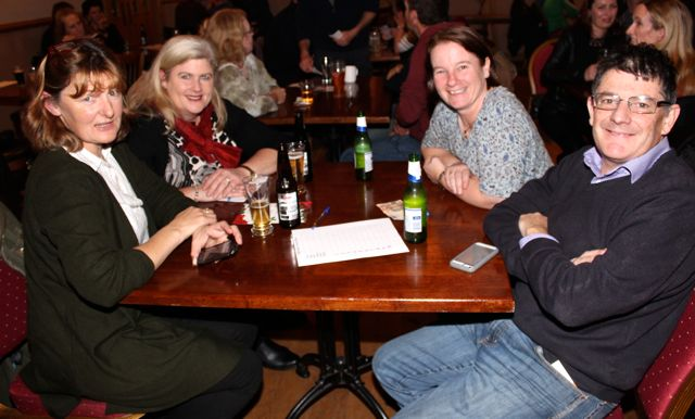 Catriona Chester, Mary V Dennehy, Mary B Murphy and James Feely at the Tralee Parnells GAA Club Table Quiz in Charlie's Bar at Kerins O'Rahillys on Friday night. Photo by Dermot Crean