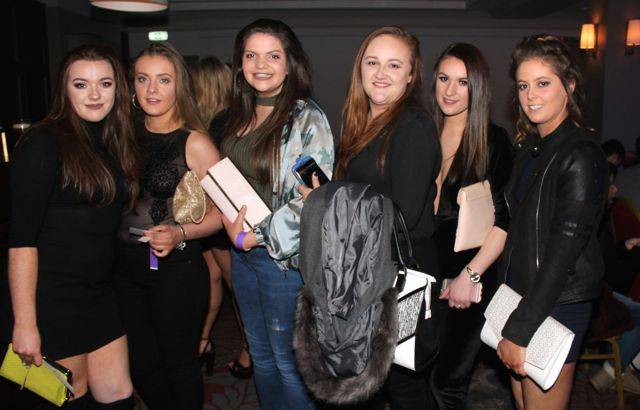 Serena Crowley, Norma O'Gorman, Niamh O'Grady, Kasia Kaminska, Sarah Casey and Sophie Mullane at the 'Strictly Come Dancing' event in aid of Pieta House at the Ashe Hotel on Thursday. Photo by Dermot Crean