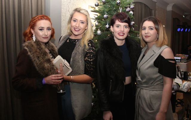 Katie O'Neill, Lena McKenna, Vada Randles and Shauna Murphy at the 'Strictly Come Dancing' event in aid of Pieta House at the Ashe Hotel on Thursday. Photo by Dermot Crean
