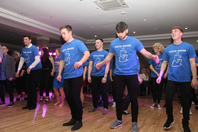 Taking to the floor for the opening dance at the 'Strictly Come Dancing' event in aid of Pieta House at the Ashe Hotel on Thursday. Photo by Dermot Crean
