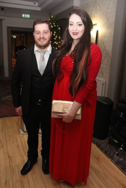MCs for the evening, Gerard Denis O'Connor and Jessica Murphy at the 'Strictly Come Dancing' event in aid of Pieta House at the Ashe Hotel on Thursday. Photo by Dermot Crean