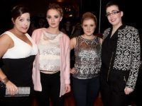 Saoirse O'Rourke, Jolene Buckley, Ewelina Olechowska and Ciara Curtin at the fashion show in aid of St Vincent de Paul at the Ballyroe Heights Hotel on Thursday night. Photo by Dermot Crean