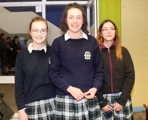 Leona Stack, Lucy McGrath and Aisling Mahony at the ISTA Kerry quiz at IT Tralee South Campus on Thursday night. Photo by Dermot Crean