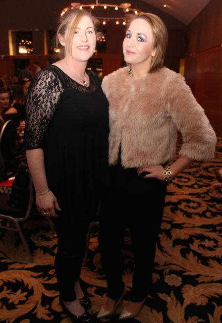 Sinead O'Connor and Jessica Boylan at the St Brendan's Hurling Club 'Strictly Come Dancing' in the Ballyroe Heights Hotel on Saturday night. Photo by Dermot Crean