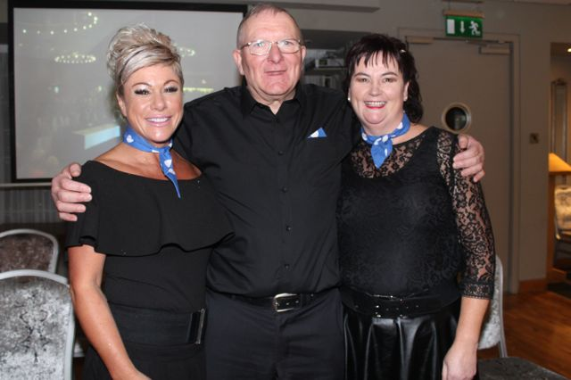 Joanna O'Driscoll, Maurice McElligott and Mary Fitzgerald at the St Brendan's Hurling Club 'Strictly Come Dancing' in the Ballyroe Heights Hotel on Saturday night. Photo by Dermot Crean
