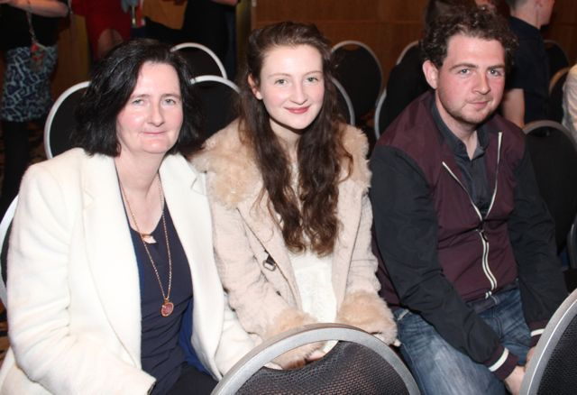 Breda, Grace and Michael Egan at the St Brendan's Hurling Club 'Strictly Come Dancing' in the Ballyroe Heights Hotel on Saturday night. Photo by Dermot Crean