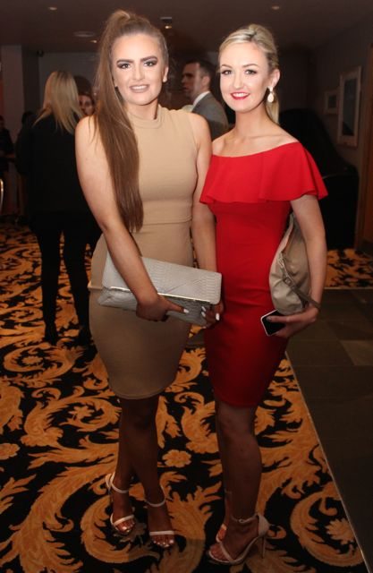 Gerri O'Brien and Claire Shanahan at the St Brendan's Hurling Club 'Strictly Come Dancing' in the Ballyroe Heights Hotel on Saturday night. Photo by Dermot Crean