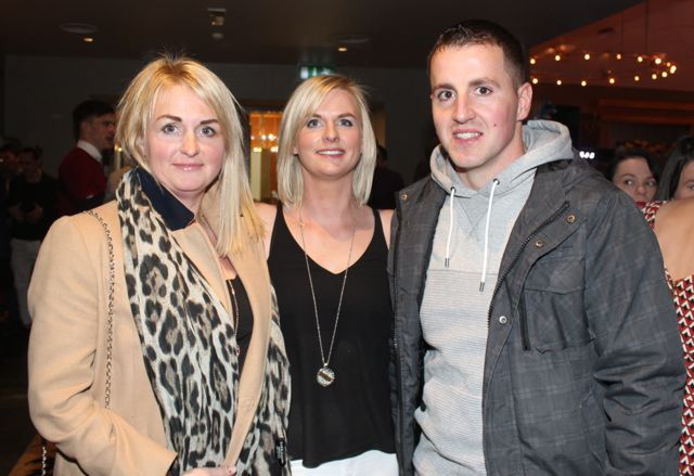 Denise Relihan with Vicky and Francis Keane at the St Brendan's Hurling Club 'Strictly Come Dancing' in the Ballyroe Heights Hotel on Saturday night. Photo by Dermot Crean