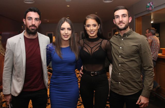 Stephen Leen, Cliona Hayes, Sarah O'Carroll and David Griffin at the St Brendan's Hurling Club 'Strictly Come Dancing' in the Ballyroe Heights Hotel on Saturday night. Photo by Dermot Crean