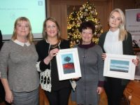 Gillian Wharton (left) and Joan O'Regan (third from left) of Tidy Tralee, with December winner Ann McAuliffe of Flowers By Ann and Maureen O'Mahony representing Aspen Grove Solutions, the October winner. Photo by Dermot Crean