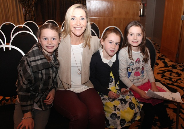 Aoibheann Ní Ferris, Noreen Ferris, Oirliath Ferris and Liadain Ferris at the Cookery Demonstration for Ardfert NS in Ballyroe Heights Hotel on Thursday night. Photo by Dermot Crean