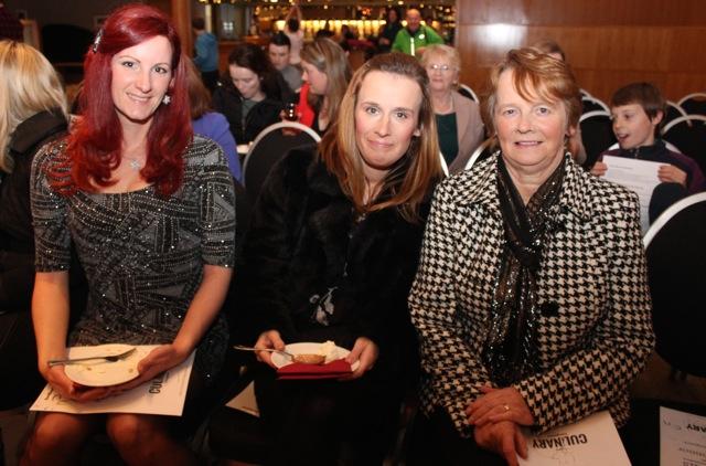 Csilla Vamossy, Belinda O'Sullivan and Mary O'Sullivan at the Cookery Demonstration for Ardfert NS in Ballyroe Heights Hotel on Thursday night. Photo by Dermot Crean
