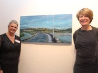 Geraldine Kissane and Lisa Singleton  at the Tralee Art Group exhibition opening on Saturday evening. Photo by Dermot Crean