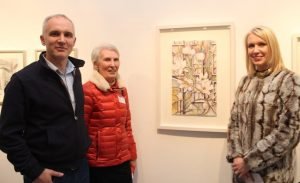Fergal Daly, Phil Daly and Deirdre Laide at the Tralee Art Group exhibition opening on Saturday evening. Photo by Dermot Crean
