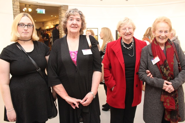 Laura Moran, Jacinta Scully Usher, Angela Kerins and Mary Cotter at the Tralee Art Group exhibition opening on Saturday evening. Photo by Dermot Crean