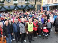 Participants at the Bill Kirby Memorial Walk on Monday. Photo by Dermot Crean