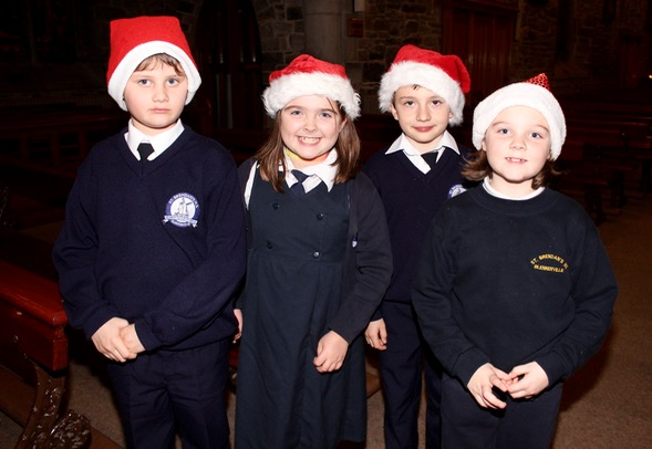 "Timmi Piaegza, Megan O'Sullivan, Joshua O""Connor and Amylee Moran Ainsley at the St Brendan's NS Blennerville Christmas Concert on Tuesday night. Photo by Dermot Crean"