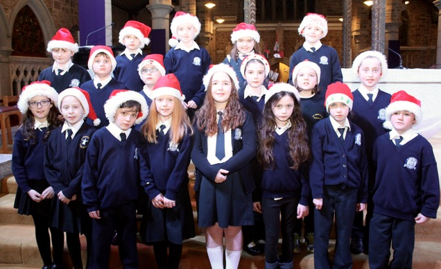 Pupils at the St Brendan's NS Blennerville Christmas Concert on Tuesday night. Photo by Dermot Crean