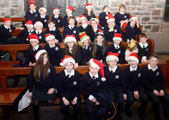 Pupil prepare at the St Brendan's NS Blennerville Christmas Concert on Tuesday night. Photo by Dermot Crean
