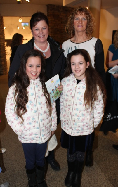 In front; Cara and Caoileann Kenny O'Sullivan, at back; Jill Kenny and Nora Kelleher at the launch of 'Behind The Face' at Siamsa Tire on Friday night. Photo by Dermot Crean