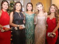 Sarah Fitzgerald, Nora O'Connell, Mary Fitzpatrick, Zoe O'Connor and Kelly Tobin at the CBS The Green Students' Debs Ball at Ballyroe Heights Hotel on Thursday night. Photo by Dermot Crean