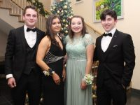 Michael Moran, Isabella Stein, Ursula Earley and Declan Hourigan at the Gaelcholáiste Chiarraí students' Debs Ball at Ballyroe Heights Hotel on Thursday night. Photo by Dermot Crean