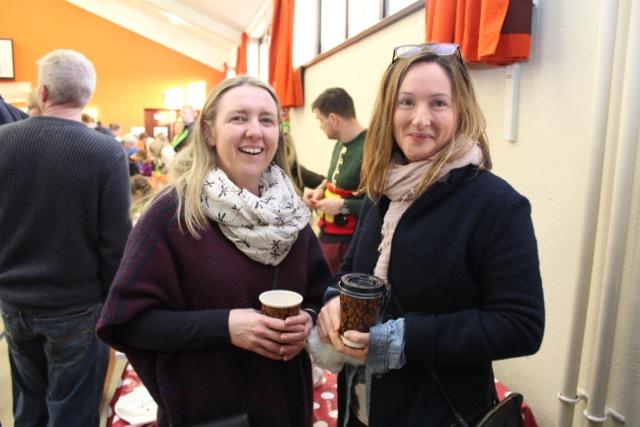 Noreen Horan and Dorren Browne at the Gaelscoil Mhic Easmainn Christmas Fair on Sunday. Photo by Dermot Crean