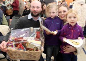 Shane, Cait, Maria and Ava Healy at the Gaelscoil Mhic Easmainn Christmas Fair on Sunday. Photo by Dermot Crean
