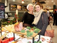 Carmen Aparico and Rachel McBride at the Garveys Supervalu Food Fair and Wine Tasting event on Wednesday evening. Photo by Dermot Crean