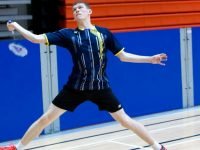 Brendan McGovern ( Annascaul) in action and  who was runner up in the Grade F Singles competition in UL.