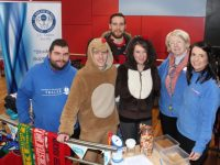Manning the ITT SVP stand at the Christmas Market at IT Tralee on Thursday, were at back, Steven Healy, in front Aodan Bolustrom, Ruairi Fry, NIamh Blackburn, Judy McCarthy and Maeve Leahy. Photo by Dermot Crean
