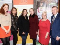 Catriona Py Collins, CPC Marketing Consultants, Mairead O'Mahony, Ashmore Learning Solutions, Michaela Edwards, Wildwater Adventures, Elma Mulroney, Kellihers Hardware, Joan Barrett, Parent Coaching and Kerry Barrett at the Wine, Whiskey And Port Tasting event at The Rose Hotel on Thursday evening. Photo by Dermot Crean