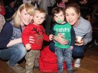 Caroline and Luke Kelly and Evan O'Connor and Kelly Ann Roantree at the Kerins O'Rahillys Christmas Fair on Sunday afternoon. Photo by Dermot Crean