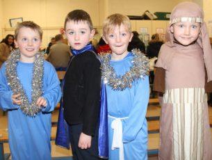 Cuan Fernane, Reece King, Mark Riordan and Noah Reidy at the Listellick NS Christmas Concert on Tuesday evening. Photo by Dermot Crean