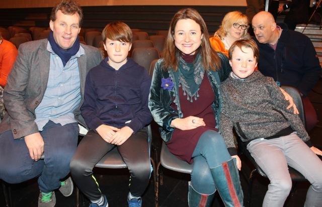 Mike O'Neill, Rón O'Neill, Gráinne Sheppard and Sé O'Neill at the Mercy Mounthawk Fashion Show on Thursday night. Photo by Dermot Crean