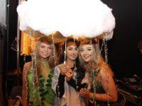 Rachel Cleary, Ciara Moynihan and Katie Jones  at the Mercy Mounthawk Fashion Show on Thursday night. Photo by Dermot Crean