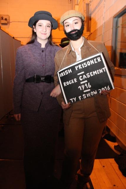 Megan McCarthy and Vilte Dubickaite at the Mercy Mounthawk Fashion Show on Thursday night. Photo by Dermot Crean