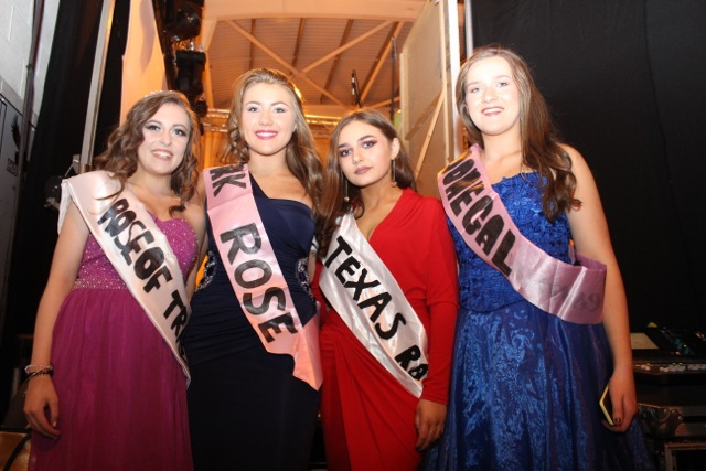 Lorraine Lyne, Lauren Fusco, Leah Browne and Stella McElligott at the Mercy Mounthawk Fashion Show on Thursday night. Photo by Dermot Crean
