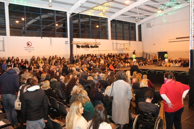 The huge crowd gathering at the Mercy Mounthawk Fashion Show on Thursday night. Photo by Dermot Crean
