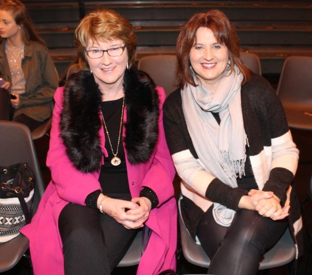 Carmel Mansfield and Regina Coggins at the Mercy Mounthawk Fashion Show on Thursday night. Photo by Dermot Crean