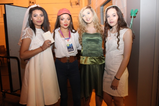Jennifer O'Cotter, Grace Stack, Katie Jones and Nicole Chekall at the Mercy Mounthawk Fashion Show on Thursday night. Photo by Dermot Crean