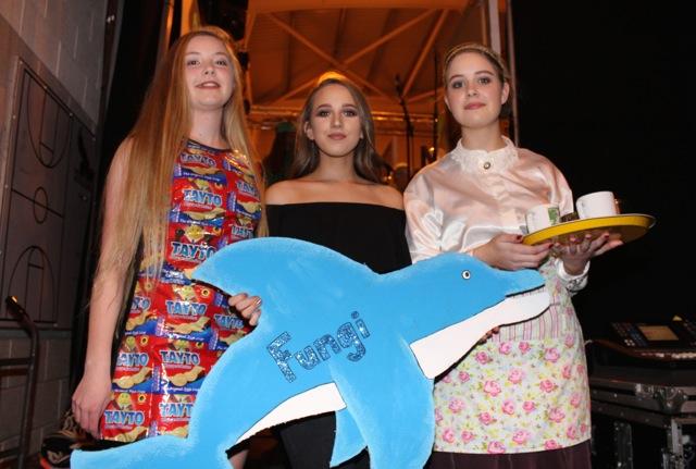 Dakota Carter O'Flynn, Alex Kelly and Laura Egan at the Mercy Mounthawk Fashion Show on Thursday night. Photo by Dermot Crean