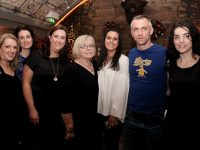 Una Kelly, Roisin O'Shea, Linda Kane, Marie O'Connor, Alanna Maharaj, John Twomey and Deirdre Barry at the Moyderwell Secondary School Class of 1991 Reunion at No.4 On The Square on Tuesday night. Photo by Dermot Crean